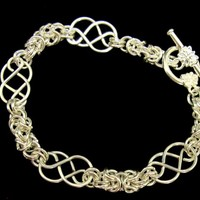Handcrafted Celtic Knot and Byzantine Bracelet