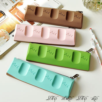 Chocolate Pencil Cases Silica estuches school Personality Stylos De Bourse Kid Trousse Scolaire Estuche Lapices Papeleria