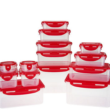 Lock & Lock 14pc Nestable Storage Set w/ 3 Handled Lids — QVC.com