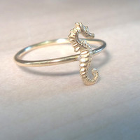 Seahorse Knuckle RingLayering Above the Knuckle by AWildViolet