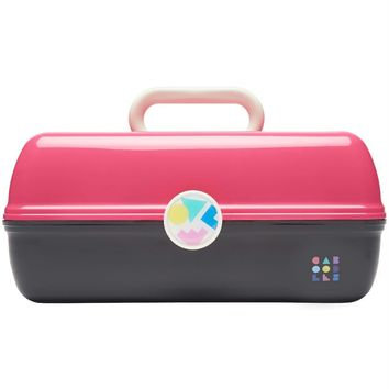 Hot Pink + Black Two Tone Retro On-The-Go Girl™ Caboodle