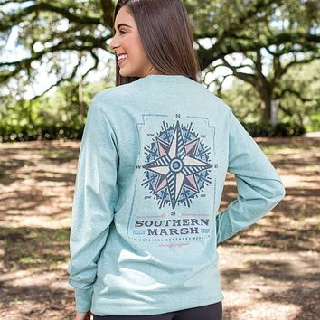 Long Sleeve Branding Compass Tee by Southern Marsh