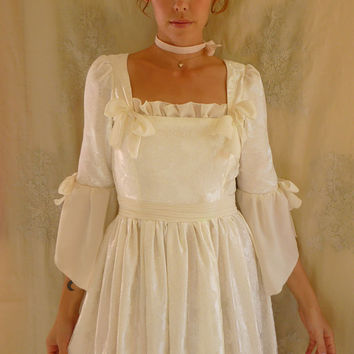 Petal Rococo Wedding Gown... Size S/M... marie antoinette dress whimsical vintage inspired boho indie free people eco friendly