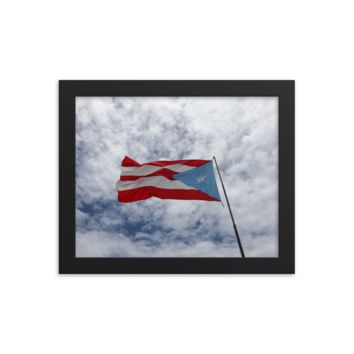 "Power To Puerto Rico Presents: ""Powerful Puerto Rican Polyester"" Framed Photo Poster By Andrew Aaron"