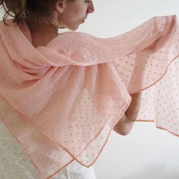 cf76677772ac4 Pink Shawl Sheer light pink shawl Light pink bridal wrap Pink summer scarf  Blush wedding wrap