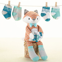 Mr Fox in Socks Plush Plus Socks for Baby