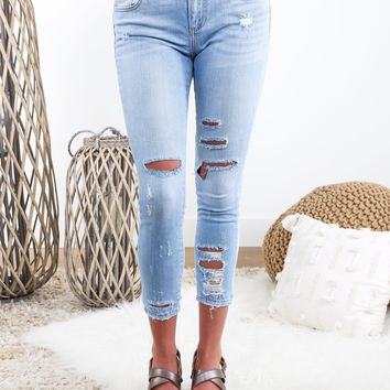 Bianca Light Distressed Jeans