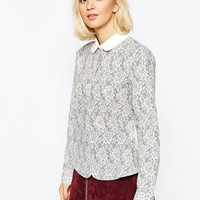 The Laden Showroom X Even Vintage Lace Print Blouse