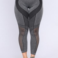 Nanor Active Leggings - Heather Black