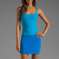 Susana Monaco Contrast Tank Dress in Atomic Blue/Electric from REVOLVEclothing.com