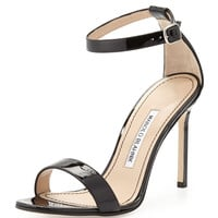 Chaos Patent Leather Sandal, Black