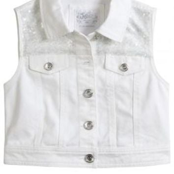 Embellished Denim Vest | Girls Outerwear Sale & Clearance | Shop Justice
