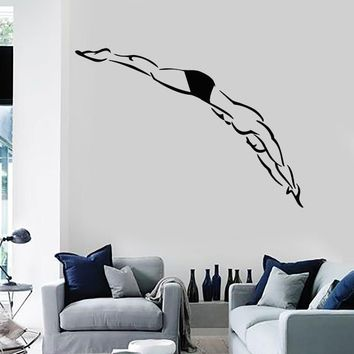 Vinyl Decal Wall Stickers Dive Swimming Water Sport Platform Diving (z1657)