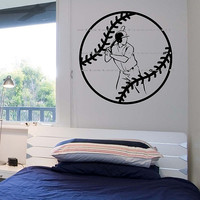 Baseball Wall Decal sticker Art Decor Bedroom Design Mural sports lifestyle work out home decor 2