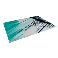 "Steve Dix ""Extractions"" Teal Black Indoor / Outdoor Floor Mat"