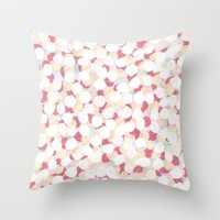 Cotton Candy Drops Throw Pillow by Kat Mun