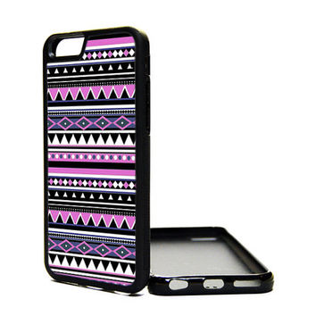 Apple iPhone 6 5C 5S 4S Generation Fitted Rubber Silicone TPU Phone Case Cover Pattern Aztec Chevron Pattern Hipster Cute