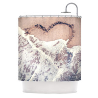 "Nastasia Cook ""Heart in the Sand"" Beach Shower Curtain"