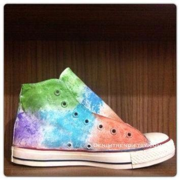 CREYON painted converse shoes with vintage look