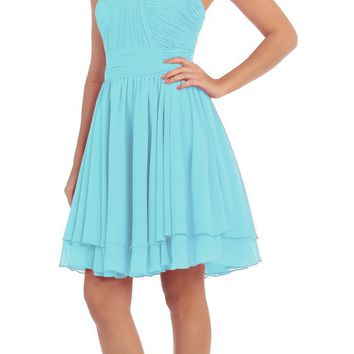 81930e43595da CLEARANCE - Starbox USA S6097 Sweetheart Neck Layered Hem Ruched. Bridesmaid  dress