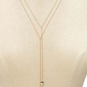 Triangle Drop Necklace Set