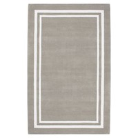 Decorator Border Rug, Warm Gray
