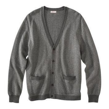 Merona® Men's Long Sleeve Cardigan Sweater - Heather Gray