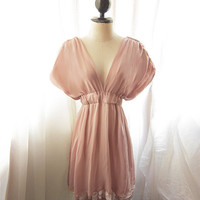 River of Romansk Blush Dusty Pink Rose Kimono by RiverOfRomansk