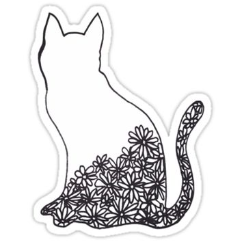 'cat' Sticker by Gloria Lam