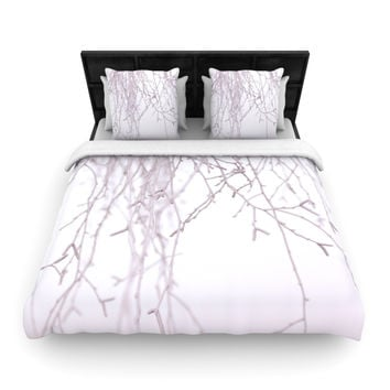 "Monika Strigel ""Frozen"" White Woven Duvet Cover"
