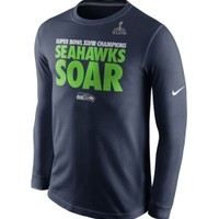 Nike Men's Seattle Seahawks Super Bowl XLVIII Champions Local Long Sleeve Shirt