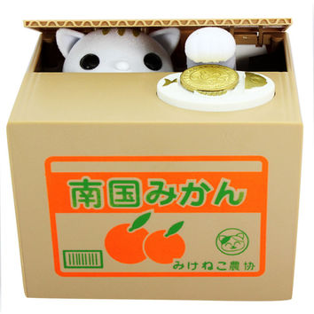 Super Cute Panda Automatic Piggy Bank Creative Money Box Cat Piggy Bank For Coins Box Creativo Cat Safe Box Gifts for Kids New