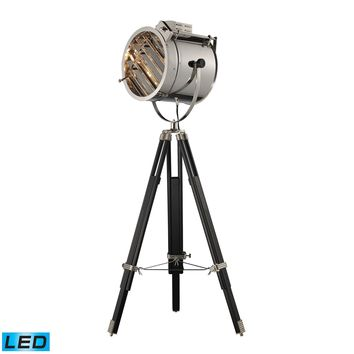 D2126-LED Curzon Adjustable LED Floor Lamp in Chrome and Black - Free Shipping!