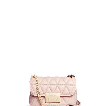 NEW ARRIVAL Michael Kors Small 'Sloan' Pink Quilted Leather Crossbody