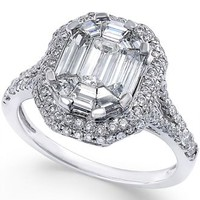 Diamond Bridal Ring (1-1/2 ct. t.w.) in 14k White Gold