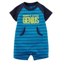 Just One You™Made by Carter's® Baby Boys' Mommy's Little Genius Romper - Blue : Target