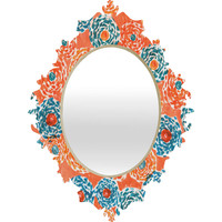 Loni Harris Twirly Blossoms Baroque Mirror