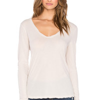 James Perse High Gauge Jersey Long Sleeve Tee in Bergamnot