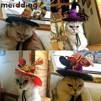 MEIDDING Halloween Party Pet Hat Pumpkin Spider Witch Hat Pet Caps Animal Pet Costume Halloween Decoration Pet Cosplay Cap