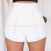 Suddenly in Love Shorts (White) | Xenia Boutique | Women's fashion for Less - Fast Shipping
