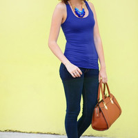 Ruched Racerback Tank