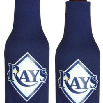 MLB Rays Neoprene Bottle Suits | Tampa Bay Rays Beer Bottle Koozies - Set of 2
