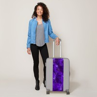 Purple Heart Feathers Luggage