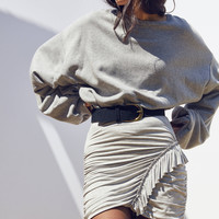 Cooperative Boppie Side-Ruffle Mini Skirt | Urban Outfitters