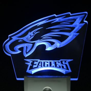 ws0094 Philadelphia Eagles Bar Beer Pub Day/ Night Sensor Led Night Light Sign
