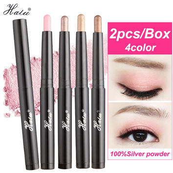 HaLu 2PCS Women Ladies Makeup Brand eyeshadow palette Waterproof Long-lasting Easy to Wear Shimmer Natural Eye shadow pencil