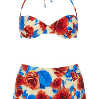 Blue Floral Underwired Bikini - New In This Week - New In - Topshop USA