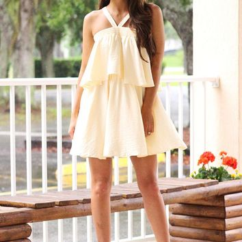 Only For You Double Layered Dress (Cream)