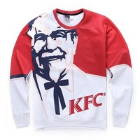 High quality 2016 fashion autumn men sweatshirt 3d KFC printed graphic crew neck sweatshirts pullover hoodies Sudaderas Hombre