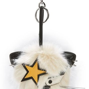 Stella McCartney Cat Star Patch Faux Fur Bag Charm | Nordstrom